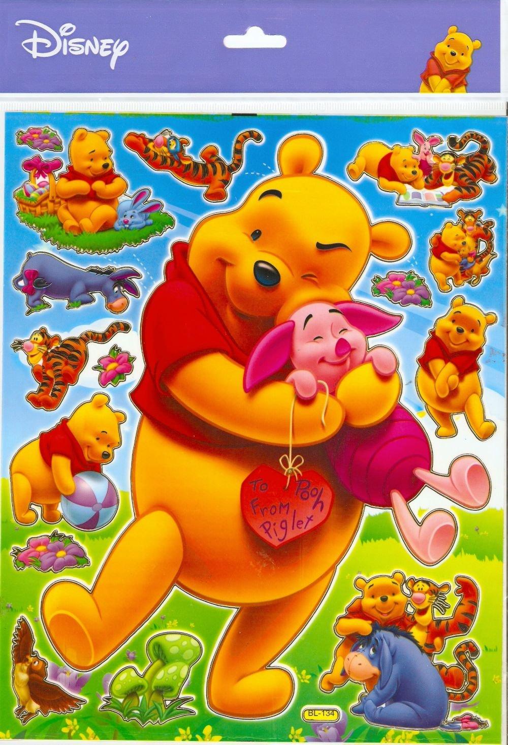 10 Big sheets Winnie Pooh Buy 2 lots Bonus 1  #BL134