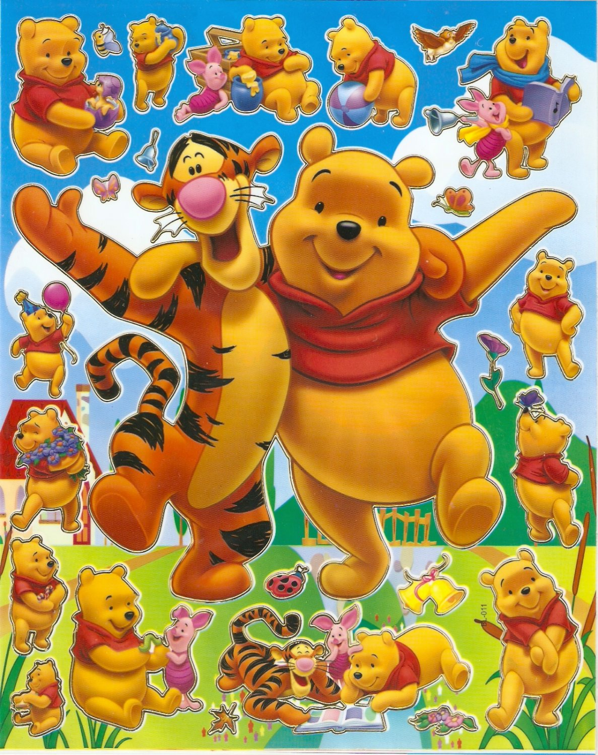 10 Big sheets Winnie Pooh Buy 2 lots Bonus 1  #PM00111
