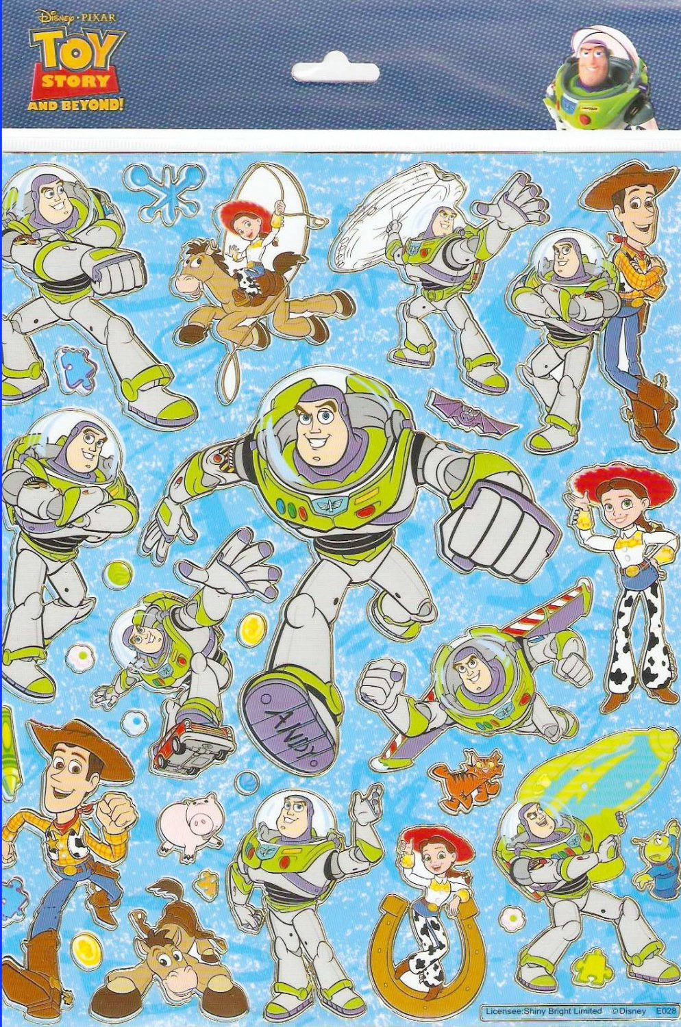 10 Big sheets Toy story Buy 2 lots Bonus 1 #E028