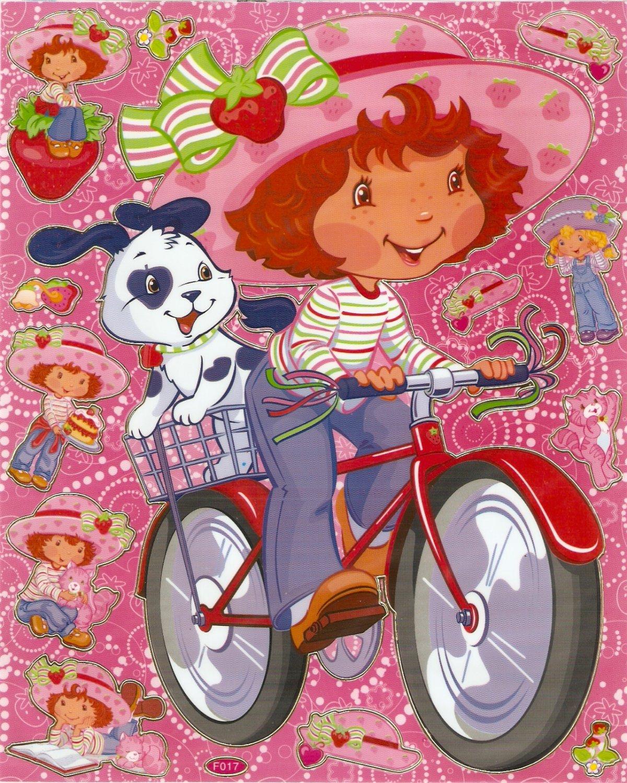 10 Big sheets Strawberry Shortcake Sticker Buy 2 lots Bonus 1#F017