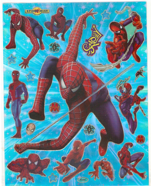 10 Big sheets Spiderman Sticker Buy 2 lots Bonus 1 #F044