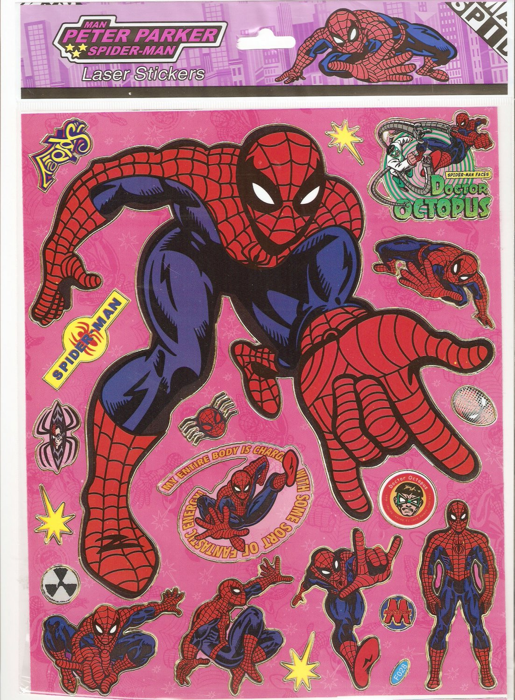10 Big sheets Spiderman Sticker Buy 2 lots Bonus 1 #F028