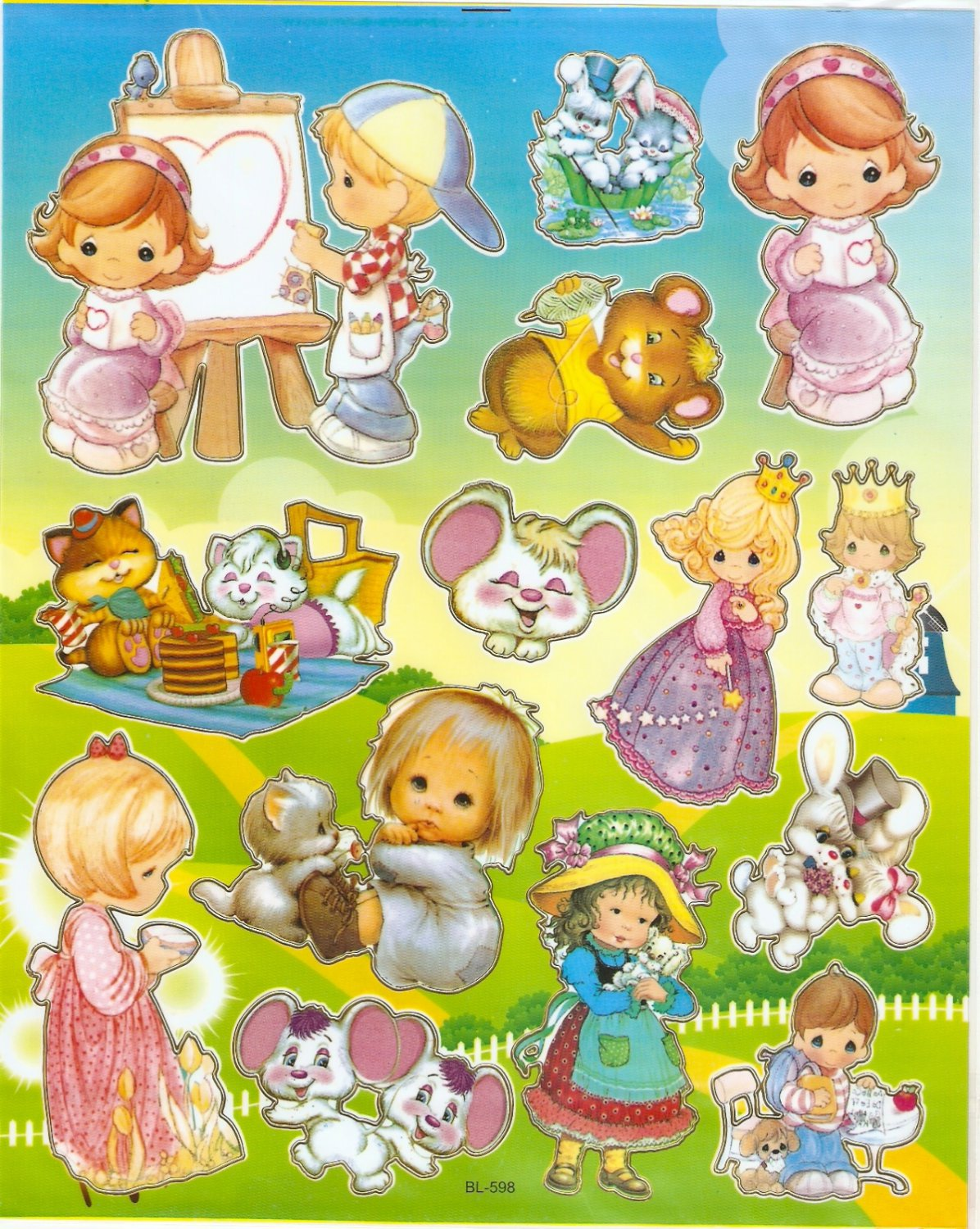 10 Big sheets Precious Moment Sticker Buy 2 lots Bonus 1 #bl598