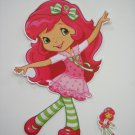 "YC-F005 13""x7"" Large Strawberry Shortcake Dancing Wall Sticker"
