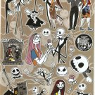 10 Big sheets Nightmare Before Christmas Sticker Buy 2 lots Bonus 1 #NBC PM00352