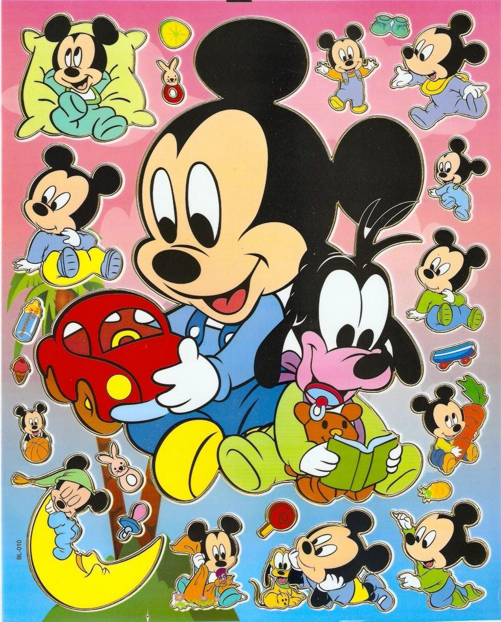10 Big sheets Baby Mickey Sticker Buy 2 lots Bonus 1#bl010