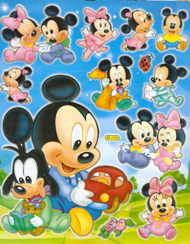 10 Big sheets Baby Mickey Sticker Buy 2 lots Bonus 1 #MKY BL179
