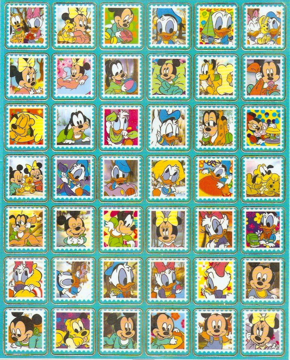 10 Big sheets Baby Mickey Sticker Buy 2 lots Bonus 1 #c107