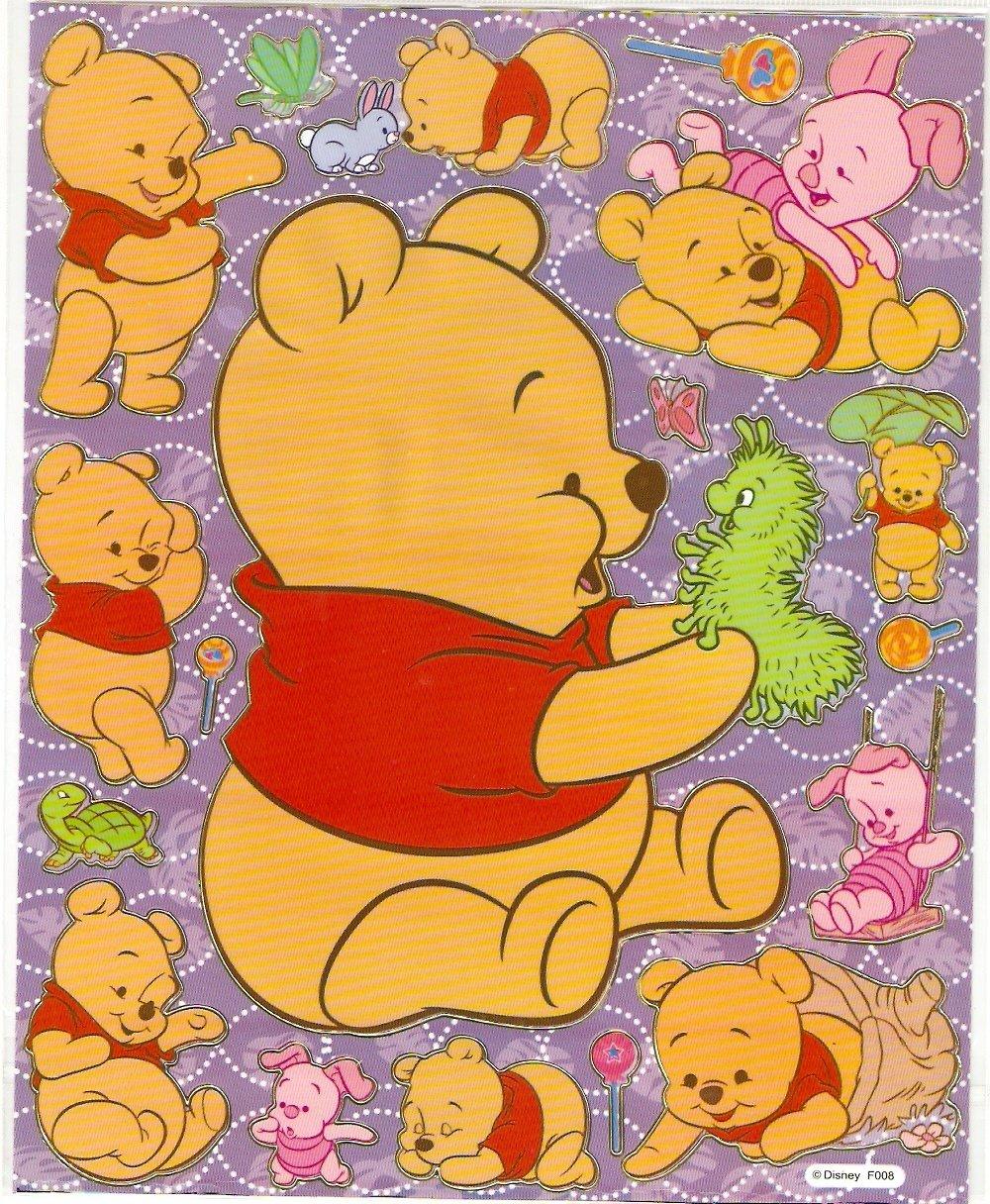 10 Big sheets Baby Pooh Sticker Buy 2 lots Bonus 1 #WP F008