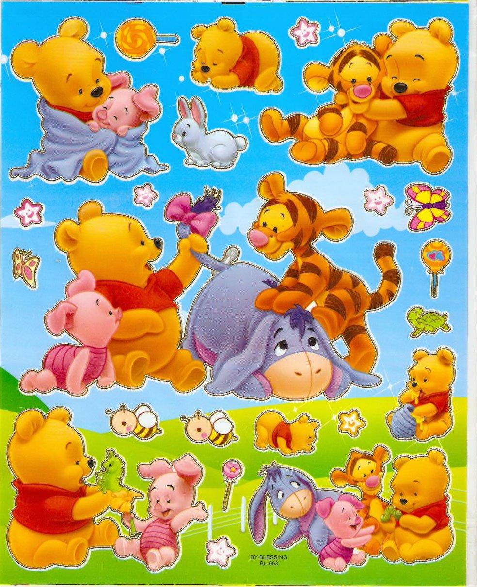 10 Big sheets Baby Pooh Sticker Buy 2 lots Bonus 1 #WP BL063/PM194