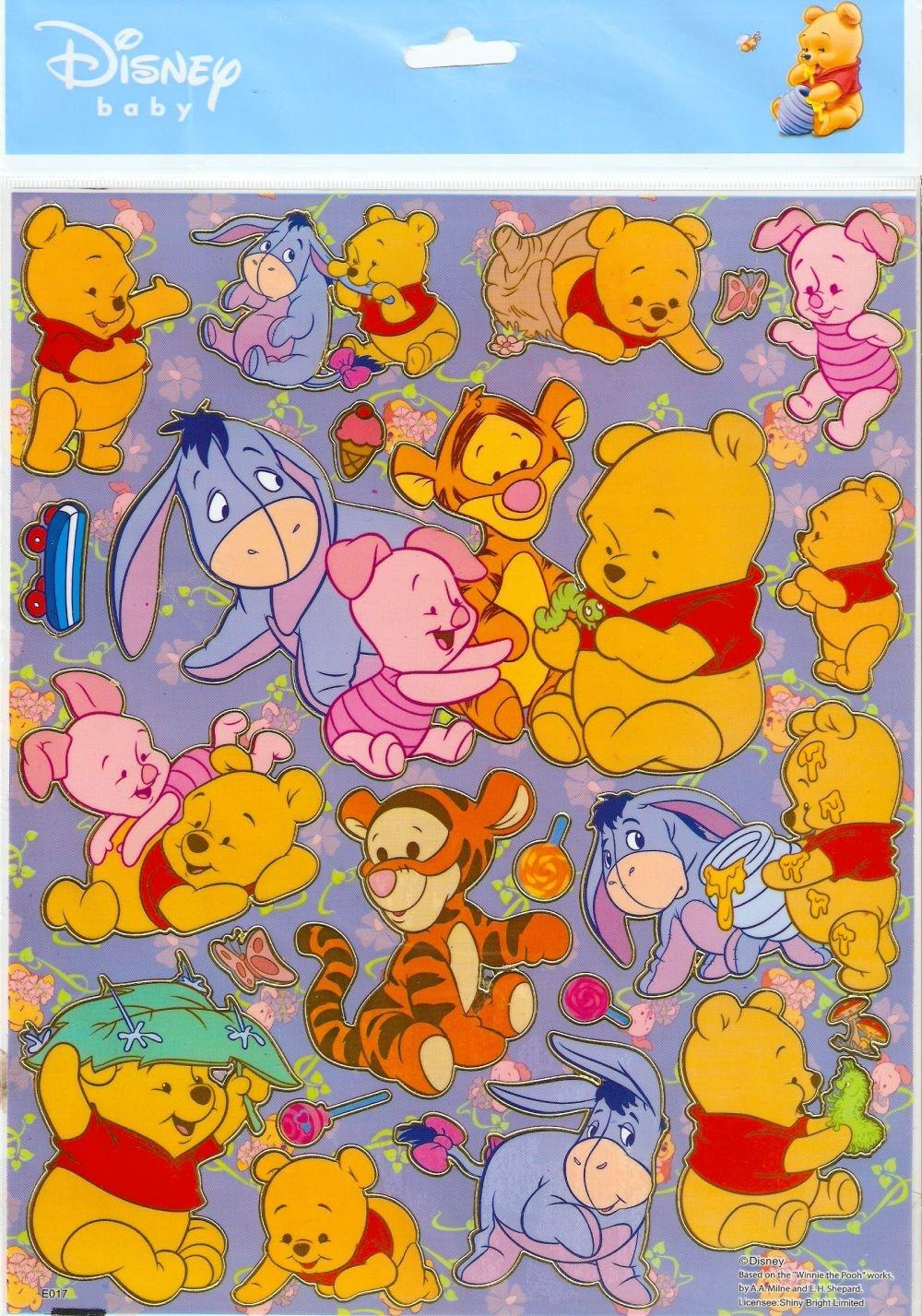 10 Big sheets Baby Pooh Sticker Buy 2 lots Bonus 1 #WP