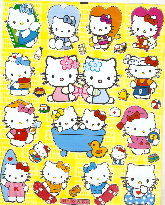 10 Big sheets Hello Kitty Sticker Buy 2 lots Bonus 1  #HK 000