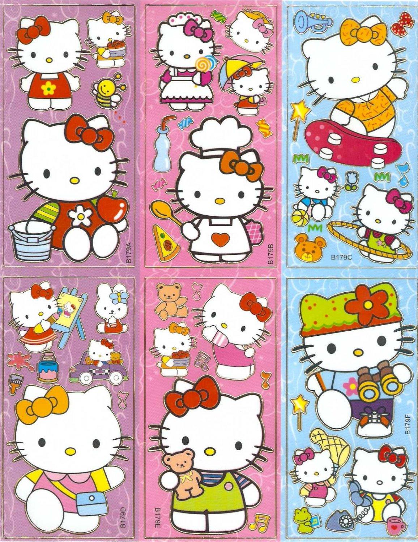 10 Big sheets Hello Kitty Sticker Buy 2 lots Bonus 1  #HK B179