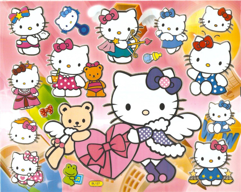 10 Big sheets Hello Kitty Sticker Buy 2 lots Bonus 1  #BL127