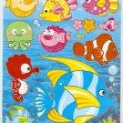 10 Big sheets Fish Sticker Buy 2 lots Bonus 1 #FSH DL003