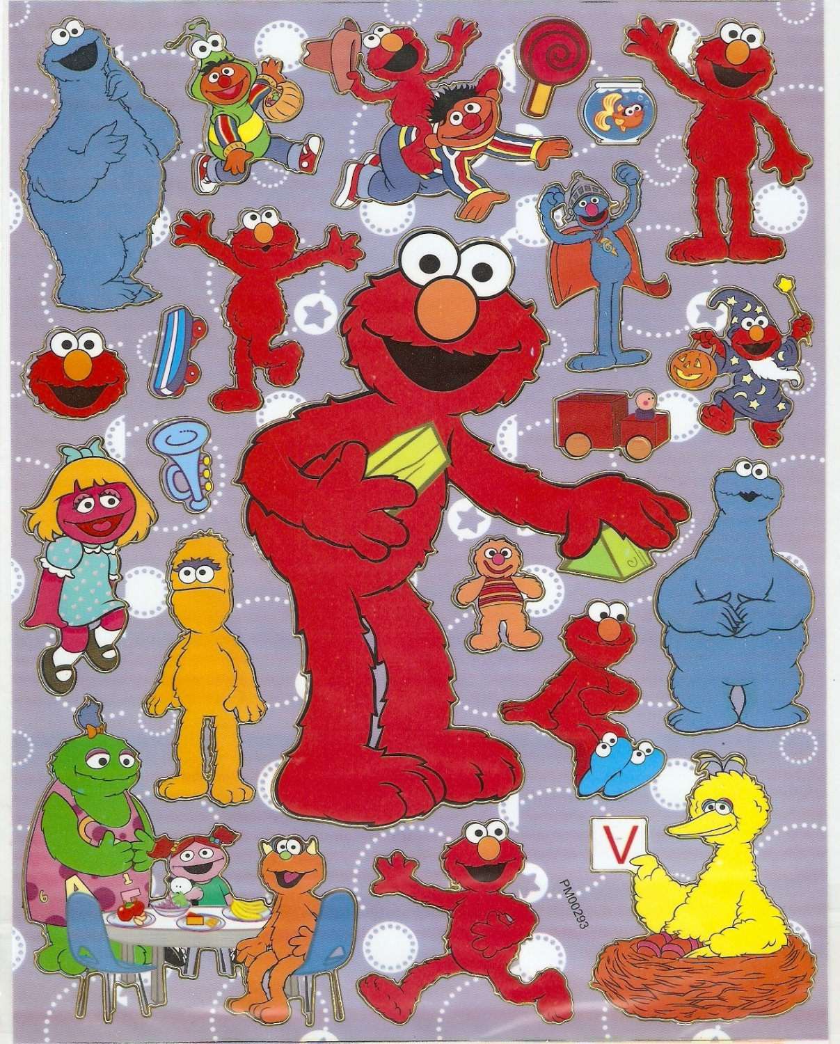 10 Big sheets Elmo Sticker Buy 2 lots Bonus 1 #ELM PM00293