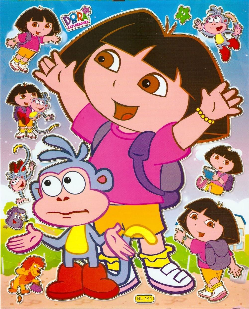10 Big sheets Dora Sticker Buy 2 lots Bonus 1 #DOR BL141
