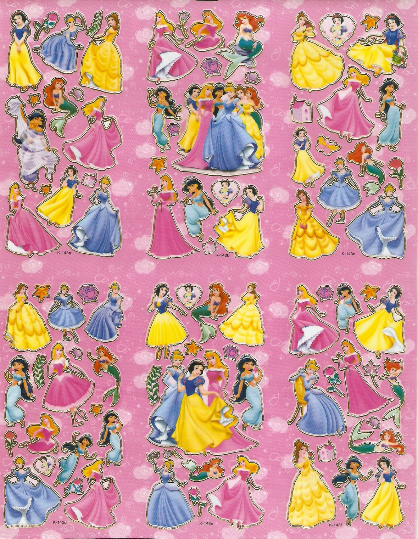 10 Big sheets Princess Sticker Buy 2 lots Bonus 1 #DP K143