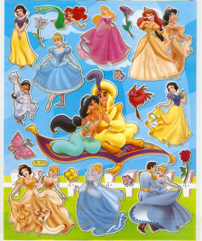 10 Big sheets Princess Sticker Buy 2 lots Bonus 1 #DP BL541