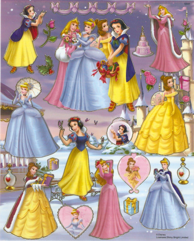 10 Big sheets Princess Sticker Buy 2 lots Bonus 1 #DP E031