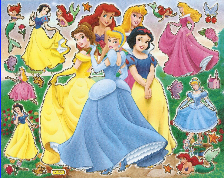 10 Big sheets Princess Sticker Buy 2 lots Bonus 1 #DP BL086