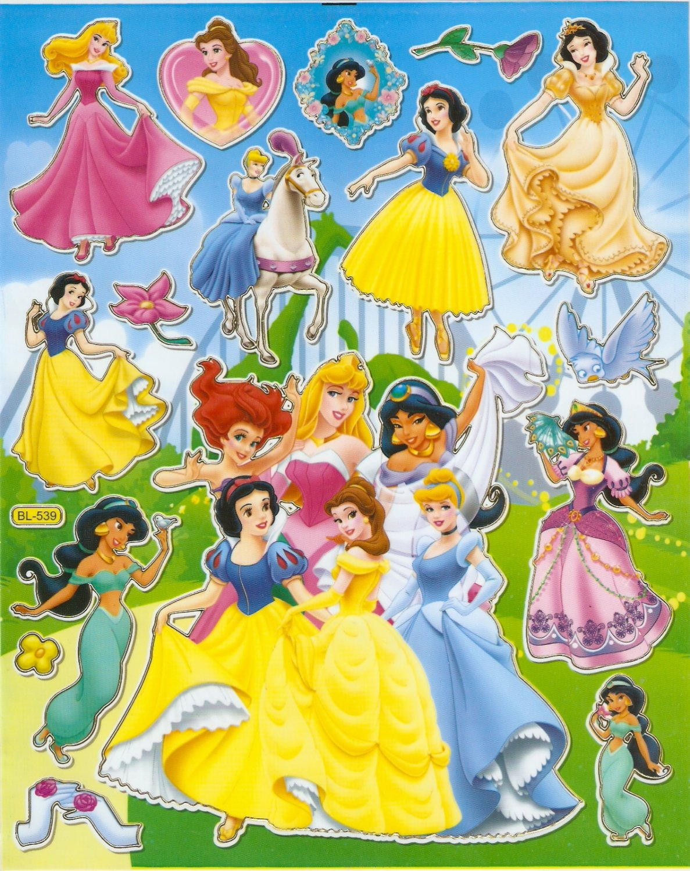 10 Big sheets Princess Sticker Buy 2 lots Bonus 1 #DP BL539