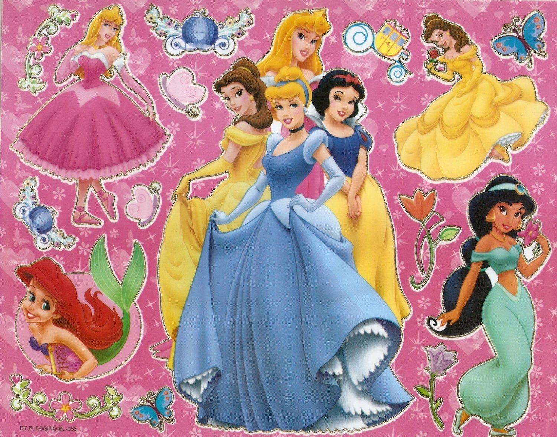 10 Big sheets Princess Sticker Buy 2 lots Bonus 1 #DP BL053