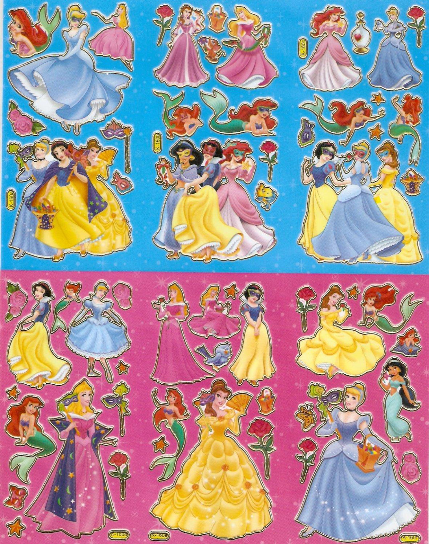 10 Big sheets Princess Sticker Buy 2 lots Bonus 1#DP K160
