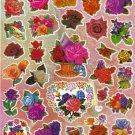 10 Big sheets Flowers Roses Stickers Buy 2 lots Bonus 1 lot  #C139