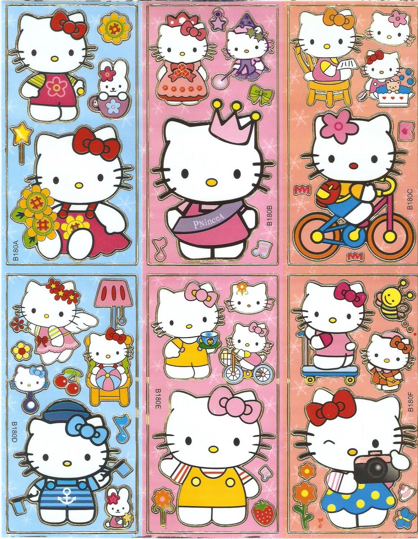 10 Big sheets Hello Kitty Sticker Buy 2 lots Bonus 1  #HK B180