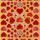 #BL345 HEART & LOVE PVC Removable Sticker