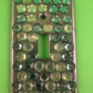 Green Bling Switch Plate