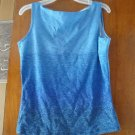 FREE SHIPING BLUE TOP WITH SILVER SEQUIN