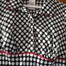 FREE SHIPING NEW FASHIONABLE SATIN black & white spots STYLE GIRLS DRESS SIZE 7