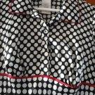 FREE SHIPING NEW FASHIONABLE SATIN black & white spots STYLE GIRLS DRESS SIZE 7