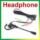 FREE SHIPPING Computer mini earphone with microphone skype,msn,yahoo