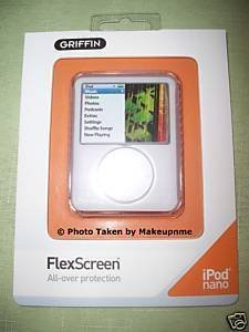 FREE SHIPPING Griffin flex screen CLEAR case for ipod nano 3g
