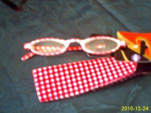 New Fun PINK Fashionable Reading Glasses W Pouch eyeglassess +1.00