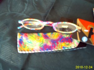 New Fun COLORFULL Fashionable Reading Glasses W Pouch eyeglassess +2.00