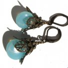 vintage style bronze fairy drop earrings