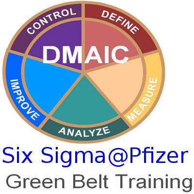 Six sigma@Pfizer - Green Belt training + GB case studies ebook