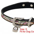 Dog Adjustable Colors Faux Leather Cartoon Collar Belt S