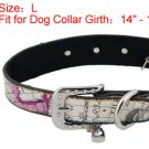 Dog Pet Cartoon Faux Leather Single Prong Buckle Collar Belt L
