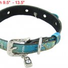 Sz M Peg Dog Rhinestone Accent Buckle Colored Band Collar
