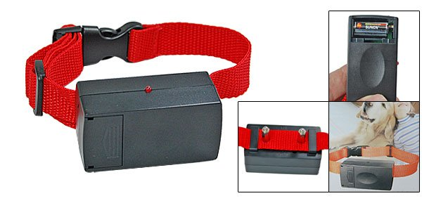 Static Shock Dog Bark Terminator Advanced Bark Control Collar Red
