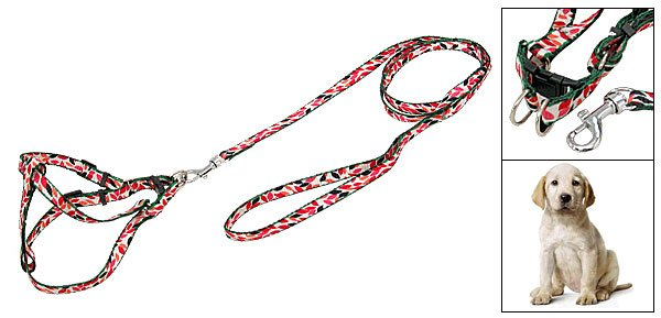 Multi-color Pet Dog Nylon Harness Puppy Pulling Rope Leash