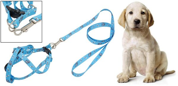 Love Dog Pattern Puppy Pet Pulling Harness Leash Rope