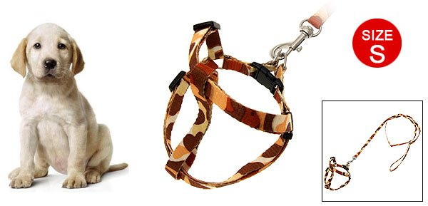 Camouflage Doggie Puppy Cat's Nylon Leash Harness Rope