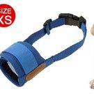 XS Dog Pet Mask Blue Soft Mesh Muzzle Bark Bite Grooming
