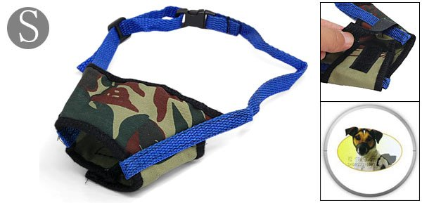 Anti Bark Chew Bite Army Camouflage Dog Muzzle Small